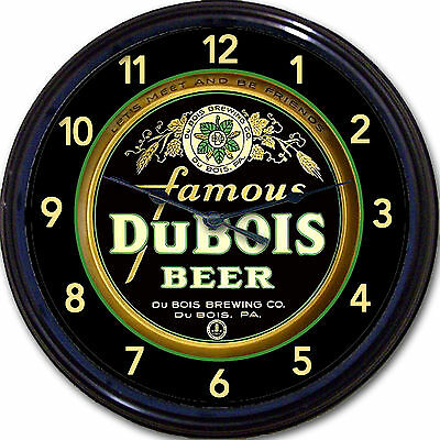 """DuBois Brewing Co Beer Tray Wall Clock DuBois PA Ale Lager Pilsner Brew New 10"""""""