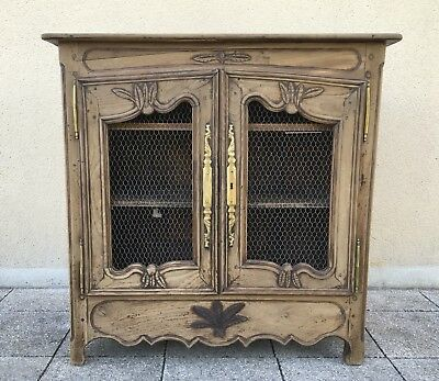 Antique French Buffet Side Board Country Cabinet In Solid Oak 18th Century