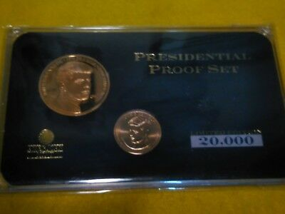 2015 American Mint John F. Kennedy Presidential Proof set gold layered
