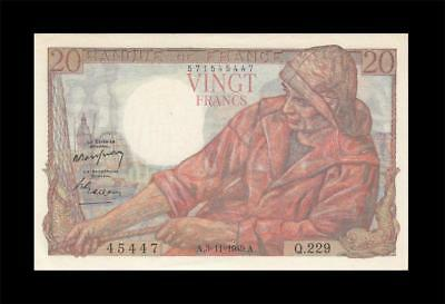 3.11.1949 Banque De France 20 Francs (( Gem Unc ))