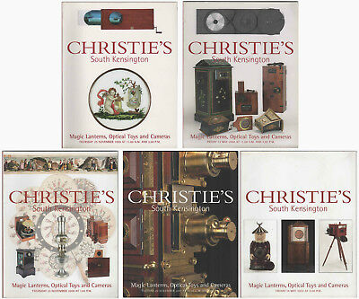 Lot of 5 Christie's Magic Lanterns Optical Toys & Cameras Auction Catalogues