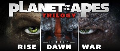 Planet of the Apes Trilogy Rise/Dawn/War Digital Movie Codes by email - UK ONLY