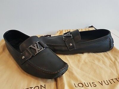 1513d5066d8 LOUIS VUITTON LV Leather Loafer Men s Shoes UK 10.5 EU45 - £77.00 ...