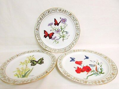 Lot Of 3 Lenox Butterfly Collector Plates
