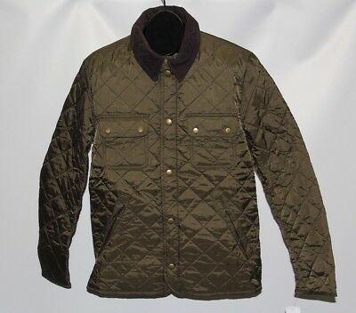 New Barbour Men's Size Small Olive Tinford Quilted Jacket