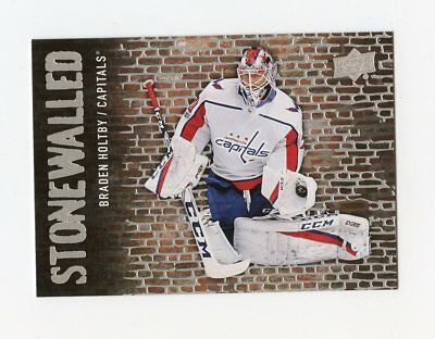 18/19 Upper Deck Stonewalled #Sw-24 Braden Holtby Capitals *59194