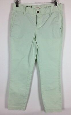 Clothing, Shoes & Accessories Painstaking J Crew Womens Size 4 Pants Black Stretch Cotton Slim Crop Ankle