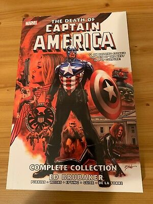 Death of Captain America: The Complete Collection by Ed Brubaker (Paperback,...