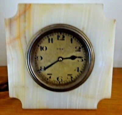 Vintage ART DECO Small French Marble DEP Mantle / Travel CLOCK - Spares/Repair
