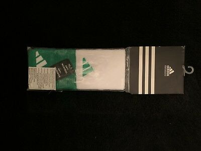 New Adidas Green and White wristbands