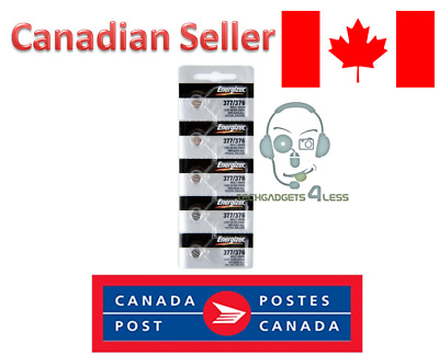 Energizer 377/376 Silver Oxide 1.55 Lithium Watch Button Cell Pack - 5 Batteries