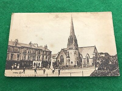 Helensburgh Church Building Vintage Posted 26/7/1919 Postcard Scotland