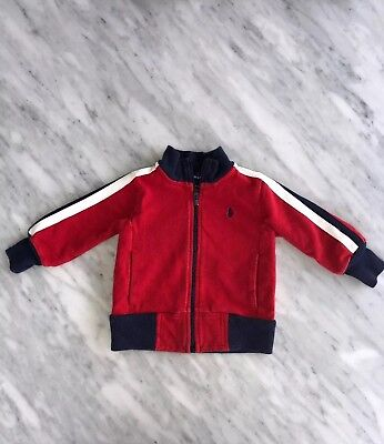 Ralph Lauren Baby Boy Size 9 Months Zip Up Shirt