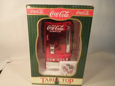1998 Coca-Cola Mercury Glass Table Top Collection Coke Cooler/Machine--In Box
