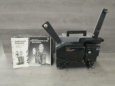 Kodak Ektographic Ct1000 16mm Film Projector Instructions Included Tested
