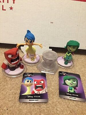 Disney Infinity 3.0 inside out playset lot with 3 figures, and crystal