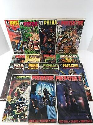 Predator, 15-Comic Book Lot, Dark Horse Complete Sets, 1989, Big Game, Cold War