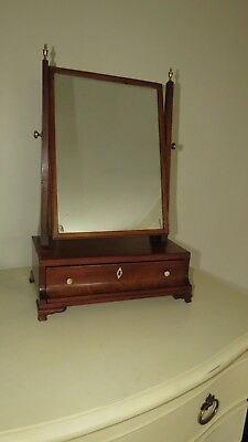 A Fine Antique George Iii Small Dressing Table Mirror