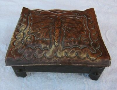 Arts and Crafts box with butterfly design circa 1900 NO RESERVE