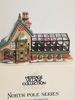 Department 56 Mrs. Claus Greenhouse North Pole Series good condition w/box