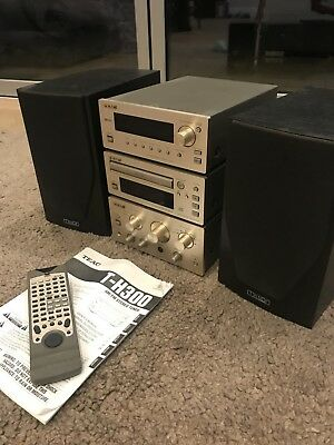 teac amplifier and CD Player, Tuner, Mission M71 Speakers