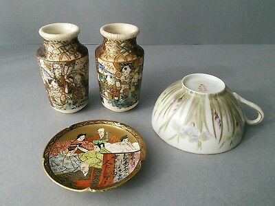 Japanese Miniatures Vases - Pin dish - Eggshell Cup.