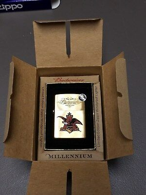 ZIPPO lighter BUDWEISER Millennium Limited Edition  NEW SEALED!