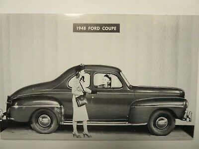 1948 FORD COUPE, car dealership STORM LAKE, IA. advertising postcard