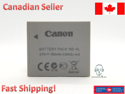 Canon Genuine NB-4L Battery for PowerShot SD1100 SD1400 SD960 SD30 SD300