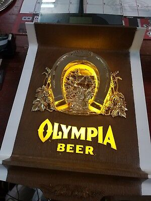 Vintage Olympia Lighted Beer Sign MAN CAVE