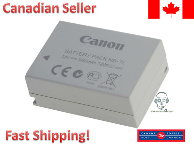 Canon Original OEM NB-7L Li-Ion Camera Battery for PowerShot G10/ G11/ G12/ GX30