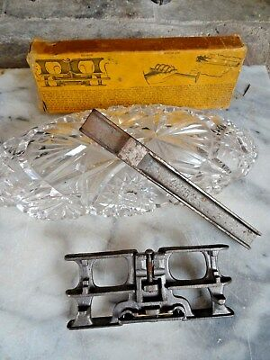 Vintage CROSS CUT SAW SET TOOLS w/Original Box Set Block & Jointer Instructions