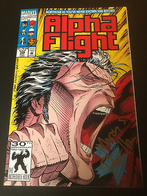 Alpha Flight 106 North Star Reveals Homosexuality NM First Print Signed Pacella