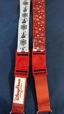 New Disney Parks 2018 Holiday Reversible Lanyard Christmas