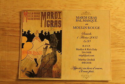 Mardi Gras, New Orleans,moulin Rouge, R.s.v.p. Post Card