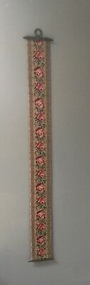"Decorative Handmade Tapestry Bell Pull - Florals 4 1/2"" X 48"""