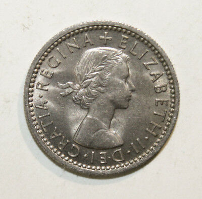 Great Britain 6 Pence 1958 Choice Uncirculated Coin *** Key Date