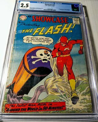 Showcase #13 CGC 2.5 OW, (1st Mister Element-3rd Silver Age Flash)-DC 1958