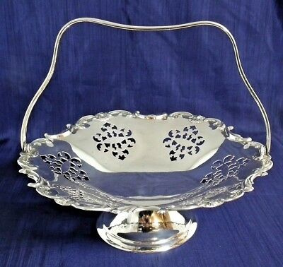 Antique.Silver Plated Footed & Handled Fruit Bowl.Maxfield & Sons. c. Late 1800s