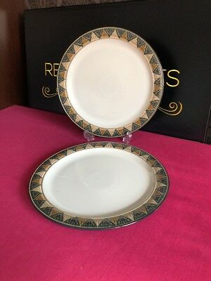 2 x Denby Boston Blue Spa Salad Plates 22.5cm