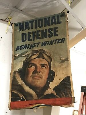 WWII Era Canvas Banner Great Military Image