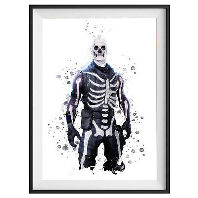 Skull Trooper Poster Game Outfit Print Wall Art Gaming Room Decor Gift   S675