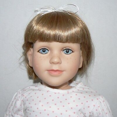 "My Twinn doll 23"" 2009 posable doll blond blue eyes freckles short hair clothes"