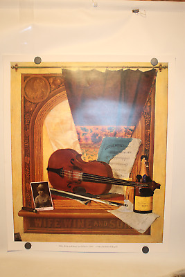 """Vintage Veuve Clicquot Ponsardin Champagne Large Heavy Advertising Poster"""" Wife"""