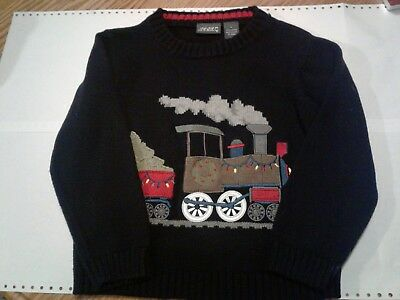 Boys Blue Train Sweater Size 5
