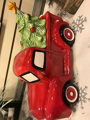 Cookie Jar Truck With Christmas Tree