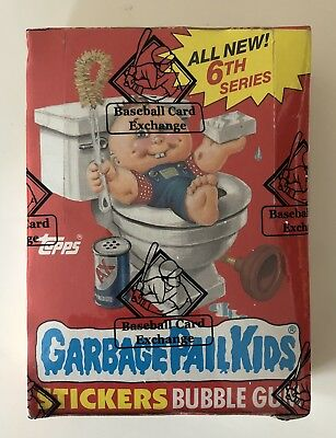 1986 Topps Garbage Pail Kids Gpk Series 6 Wax Box Bbce Authenticated!!!