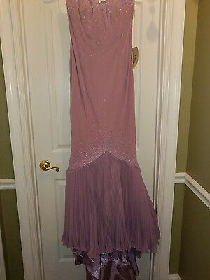 Putros Couture Lavender Gown with Rhinestones & Beads NWT Sz 12