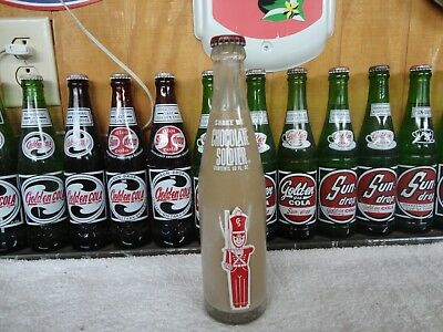 Chocolate Soldier Soda Bottle 10 Oz Full With  Cap Memphis Tennessee