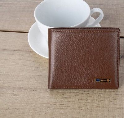 NEW Smart LB Wallet Genuine Brown Leather Bluetooth Anti Theft Remote Camera